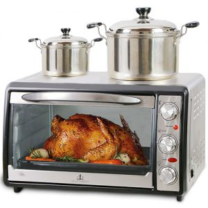 Shabbat Toaster Oven with Top hot plate
